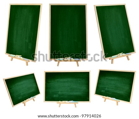 Set chalkboard Vertical and Horizontal isolated on white background (Save Path) - stock photo