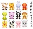 set characters of chinese horoscope - stock photo