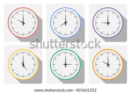 Set clock with the timer  - stock photo