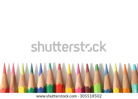 Set color pencils background and  back to school wallpaper