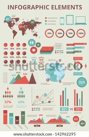 Set elements infographics world map information stock illustration set elements of infographics world map and information graphics bitmap copy gumiabroncs Gallery