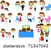 Set Family Icons - stock vector