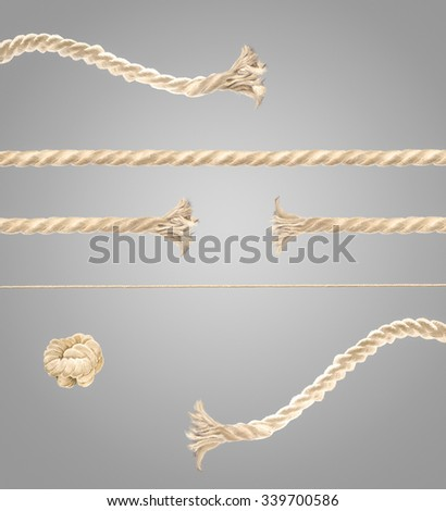 set for create pulling rope process image.  - stock photo