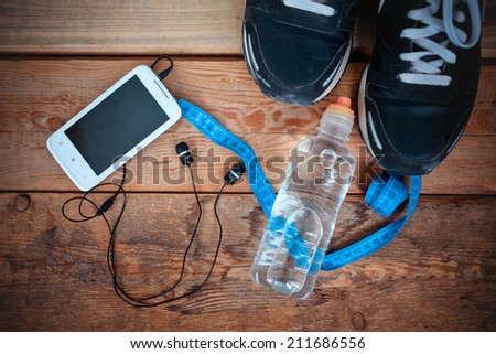 set for sports activities - stock photo