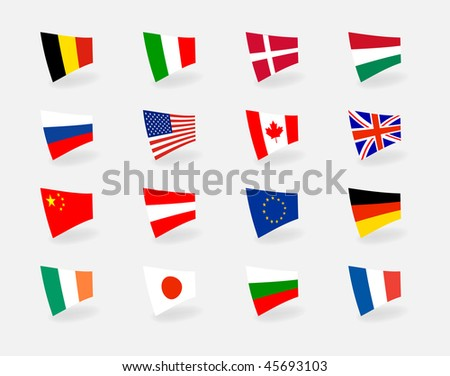 Set icons countries flags. Vector version is in my portfolio