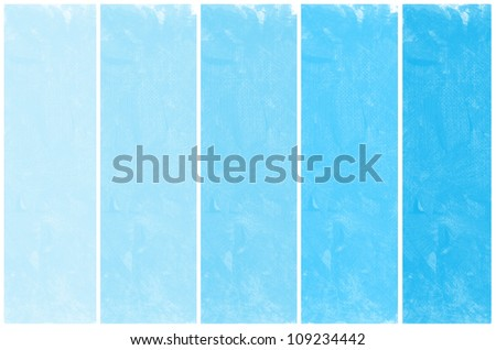 Set of abstract blue watercolor hand painted - stock photo