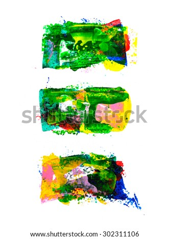 Set of abstract hand painted backgrounds - stock photo