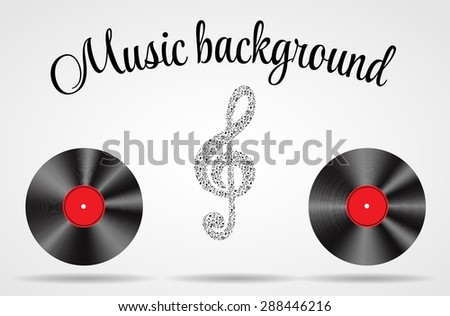 Set of Abstract music background  illustration for your design.  - stock photo