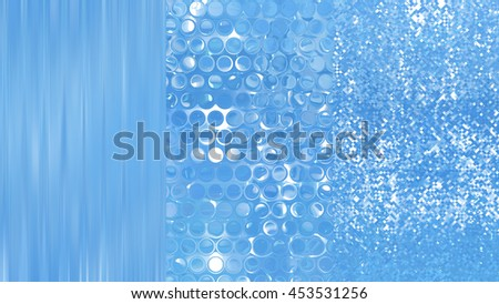 Set of abstractions picture. Three background blue.