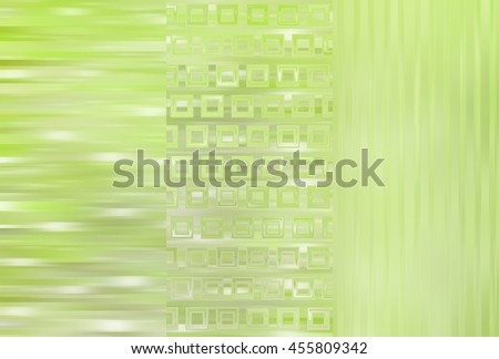 Set of abstractions picture. Three background green.