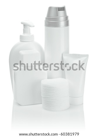 set of accesories for care - stock photo