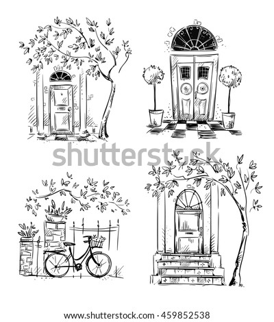 Set of architecture details drawings. Doors.  sc 1 st  Shutterstock & Set Architecture Details Drawings Doors Stock Illustration 459852538 ...