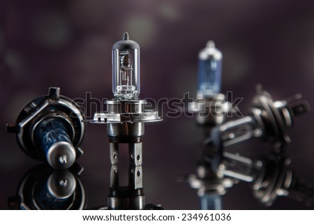 set of automotive bulbs. - stock photo