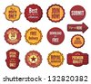 Set of badges and stickers - stock photo