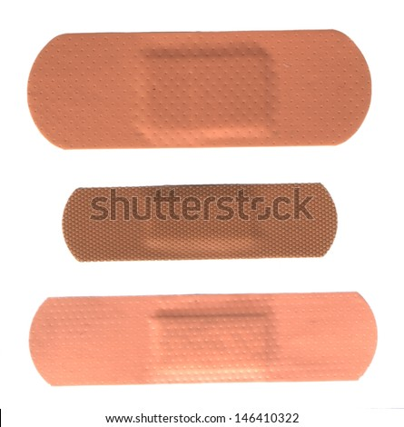 Set of band aids - stock photo