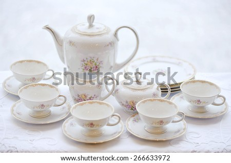 Set of beautiful crockery
