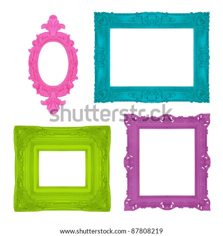 Set of beautiful ornamental frames, similar available in my portfolio - stock photo
