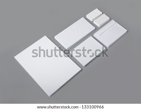 Set of blank corporate identity templates / stationary  / for another blank templates visit my gallery - stock photo
