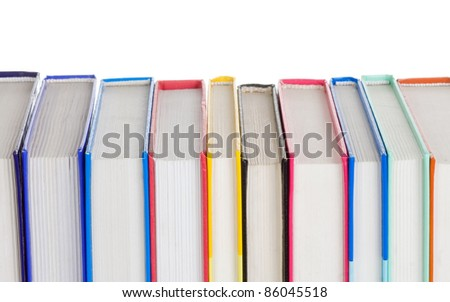 set of books isolated on white background - stock photo