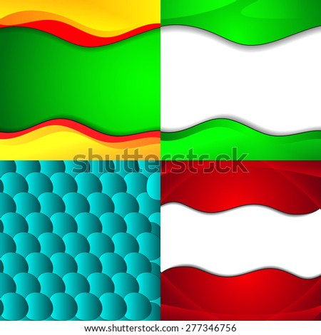 Set of bright abstract backgrounds. Design eps 10.  illustration - stock photo