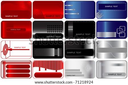 Set 16 business gift cards similar stock illustration 71218924 set of 16 business and gift cards the similar image in my portfolio in vector colourmoves