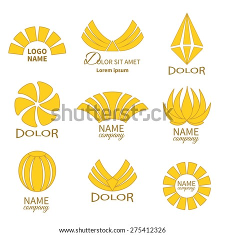 Set of business icons isolated on white.Labels, badges and  design elements.Business Logo Flat Collection - stock photo