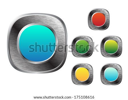 Set of buttons - stock photo