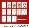 Set of Cards...All the Hearts! - stock photo