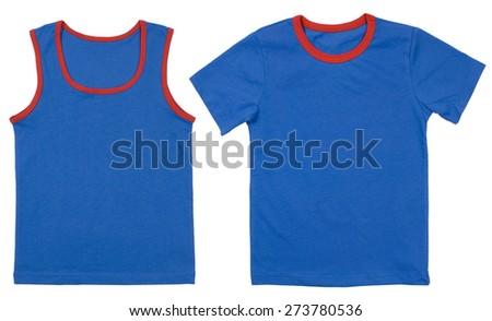 Set of child shirts isolated on a white background - stock photo