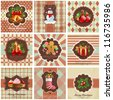 Set of christmas vintage backgrounds. Check my portfolio for vector version. - stock photo