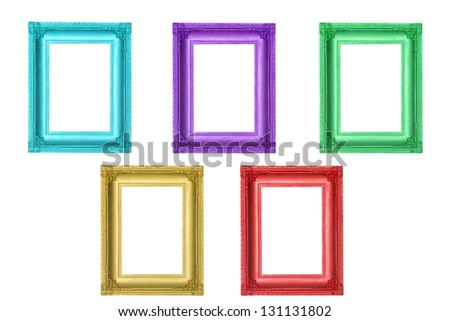 Set of colorful frames - stock photo