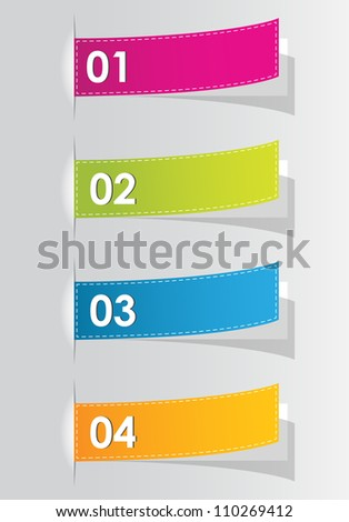 set of colorful numbered stickers for your website