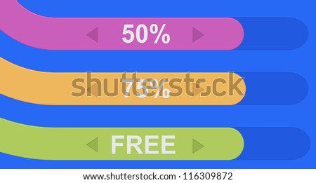 Set of colorful ribbons discount