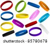 Set of colorful wristband - stock photo