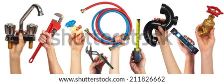 Set of construction tools. House renovation background. - stock photo