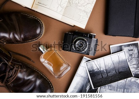 Set of cool vintage accessories - stock photo