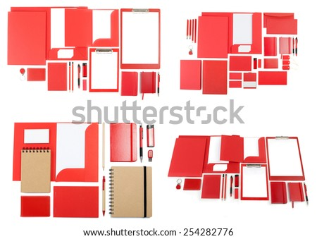 Set of corporate identity templates for the application of your logo - stock photo