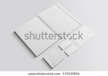 Set of corporate identity templates isolated - stock photo