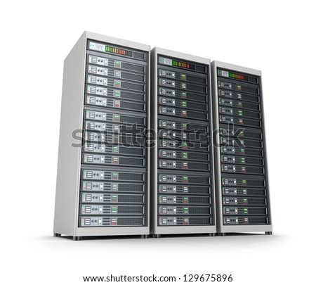 Set of data servers - stock photo