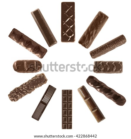 Set of delicious chocolate candies - stock photo