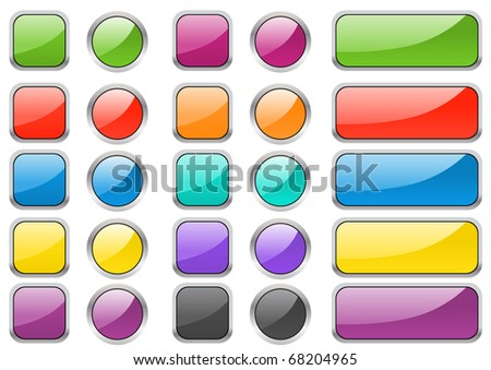 Set of different buttons. Raster version. Vector version is in my gallery - stock photo