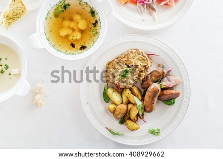 set of different dishes - stock photo