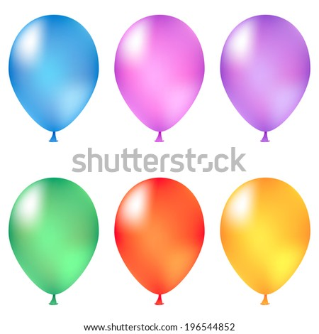 Set of different party balloons for your design.