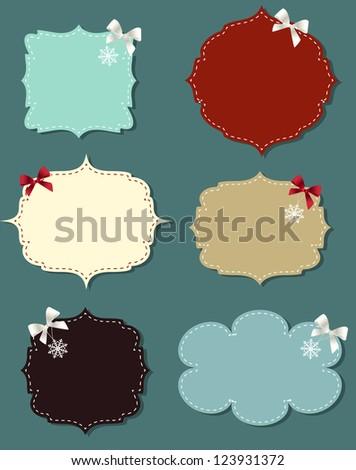 set of different speech bubbles,  design elements - stock photo