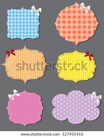 set of different speech bubbles,  design elements Raster version - stock photo