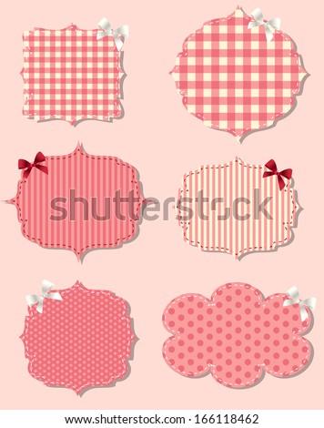 set of different Valentine`s dey labels,  design elements - stock photo