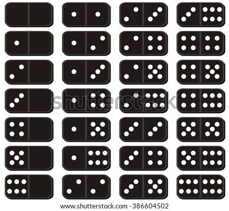 set of dominoes on white background