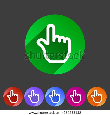 Set of drag touch hand gesture flat icon