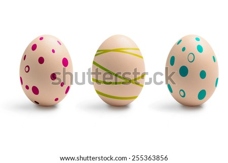 Set of eggs decorated to Easter holidays