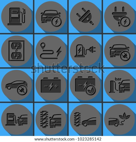 Set Electric Car Electrical Charging Station Stock Illustration ...
